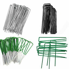 More details for metal ground garden pegs weed barrier membrane pins hooks fabric staples u pin