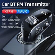 Bluetooth 5.0 FM Transmitter Auto MP3 Player Dual USB KFZ AUX Freisprechanlage