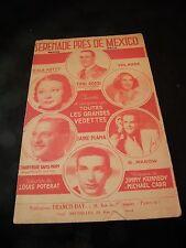 Partition Sérénade près de Mexico Rossi Ketty Plana Tino Rossi  Music Sheet