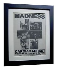 MADNESS+Cardiac Arrest+POSTER+AD+RARE ORIGINAL 1982+FRAMED+EXPRESS GLOBAL SHIP