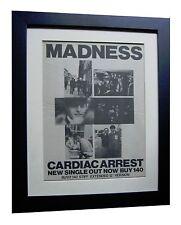 MADNESS+Cardiac Arrest+POSTER+AD+RARE ORIGINAL 1982+FRAMED+EXPRESS GLOBAL SHIP