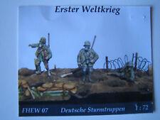 "1:72 3 Resin Figuren Erster Weltkrieg ""Deutsche Sturmtruppen"""