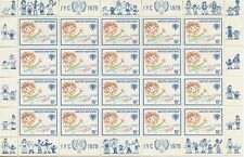 STAMP PLANCHE 20 TIMBRES UNITED NATIONS INTERNATIONAL YEAR OF THE CHILD N° 302