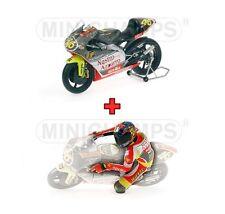 1:12 Minichamps Aprilia 250 GP + Figure Valentino Rossi 1999 Nastro Azurro NEW