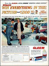 1958 Gleem Royal Drene shopping spree contest vintage photo Print Ad adl73