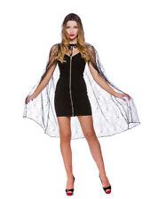 Deluxe a Ragnatela Mantello con cappuccio adulto Halloween Fancy Dress Donna Vampiro NUOVO