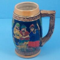 German Beer Stein Hand Painted Luster Lustre Ware Made In Japan Vintage