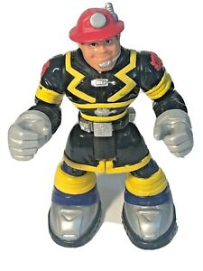 "Fisher Price 6"" Rescue Heroes Action Figure Sam Sparks Night Patrol Firefighter"