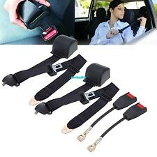 2x 3 Point Car Auto Universal Safety Adjustable Adjust Seat Belt Lap Set