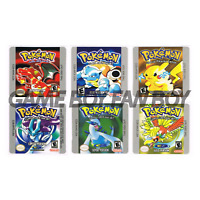 Pokemon Gameboy Replacement Labels Stickers Red Blue Yellow Gold Silver Crystal