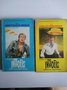 THE INVADERS.METEOR MAN/HALO HIGHWAY paperback books