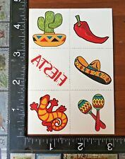 MEXICAN FIESTA, VIVA MEXICO !!, SHEET TEMPORARY TATTOOS BEAUTIFUL DESIGN #MEXICO