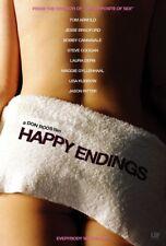 HAPPY ENDINGS MOVIE POSTER 2 Sided ORIGINAL Advance 27x40 LAURA DERN