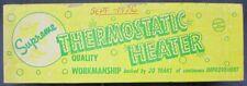 "Vintage Nos Supreme Aquarium Thermostatic Heater For 10"" Tanks 50 Watt New 1976"
