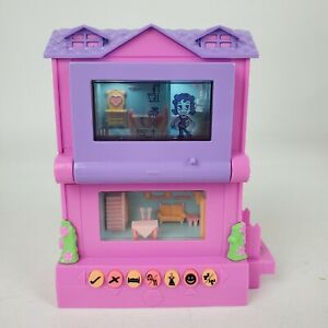 Mattel Pixel Chix House 2006 Pink with Purple Roof & Screen WORKS