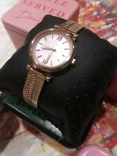 Fossil Carlie Mini Three-Hand Rose Gold Stainless Steel Women's Watch ES4697