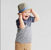 Toddler Boys' Pocket Short Sleeve T-Shirt - Cat & Jack™ Navy Stripe 2T