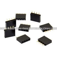 50PCS 2.54mm Header 1x4 pins Straight Single Row Female Connector