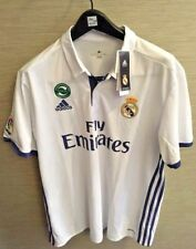 New Authentic Adidas Real Madrid Home Jersey White 16/17 XL Short Sleeves w/Tags