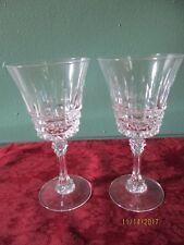 SET OF 10 VINTAGE CRYSTAL WINE GLASSES