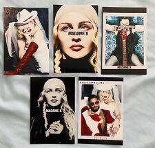 MADONNA Madame X 5 promo postcards  Medellin, Crave, I Rise, Tour Dark Ballet