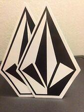 (2) 7 inch Team Rider Volcom Stone Stickers