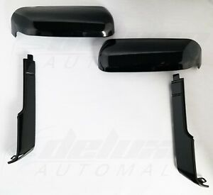 Black Top+Side Replacement Mirror Covers FOR 20-21 Chevy Silverado GMC Sierra HD