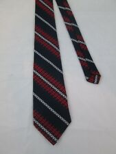 Vintage Como Italy for Haband 1970s Ugly Men's Neck Bow Tie Navy Red