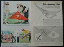 3 Prize Winning Kite PLANS Tetrahedron Prism Pyramid