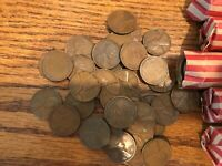 1935-P Full (50) roll circulated wheat penny cent  5 lots available combine ship