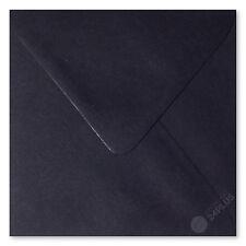 25x Briefumschläge feuchtklebend Schwarz 15,0x15,0cm (150x150mm)
