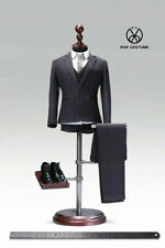 """1//6 Hommes Couleur Noire Costume Set complet pour 12/"""" Hot Toys Phicen figure masculine ❶ USA ❶"""