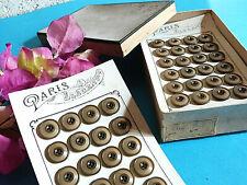 5 BOUTONS  GRIS Paris 18 mm 1,8 cm 4 trous  Gray Button sewing neuf mercerie
