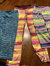 Lot of 3 Girls Justice & Reebok,under Armor Sweatpants activewear size 10