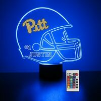 Pitt Panther Personalized Night Light Lamp NCAA College Football Gift Light LED