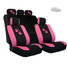 New Pink Paws Car Seat Covers and Headrest Covers Gift Set For Kia