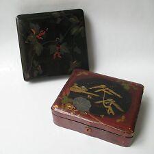 2 BOITES COFFRETS ANCIENS EN LAQUE DE CHINE XIXè ANTIQUE CHINESE 2 BOX 19th C