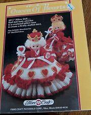Crochet Motif Fibre Artisanat Reine De Cœurs 10 1/2 Oreiller Poupée 1989 Ins 13