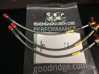 MGA 1500 GOODRIDGE STAINLESS STEEL BRAIDED BRAKE HOSE SET AND FITTINGS GBL562120