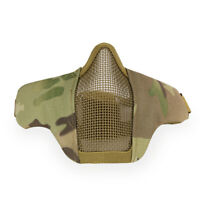 Tactical Airsoft Half Face Mask CS Paintball Mask Military CP Camouflage