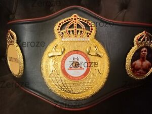 New Style WBA Boxing Belt with Mike Tyson side plates HQ Replica Adult Size