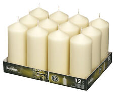 Bolsius Professional 168mm Pillar Candles Ivory - Tray of 12 Quality Candles