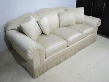 Baker Furniture Custom Three Cushion Rolled-Arm Sofa, Champagne Color; Mint