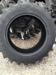 ONE 11.2x24 Firestone SAT II FORD JOHN DEERE 8 ply R1 Bar Lug Farm Tractor Tire
