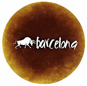 BARCELONA, SPAIN - FUN ROUND NOVELTY SOUVENIR FRIDGE MAGNET - BRAND NEW - GIFT