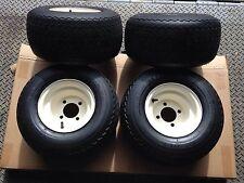 Set of 4 Used Golf Cart Wheels & Tires, Fits EZ-GO, Yamaha, Club Car