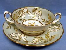 "ANTIQUE GROSVENOR ""CATHERINE""BONE CHINA CREAM SOUP BOWL&SAUCER ENGLAND VERY RARE"