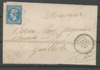 1865 Lettre CàD Abriès T22 HAUTES-ALPES(4) Ind 17 cote 220€ X2126