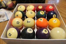 OLD Set of VIntage Pool Balls (X)