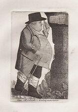 John Kay ORIGINALE ANTICA ACQUAFORTE. FRANCIS GROSE, Cav. Franco banchina di Londra..., 1789